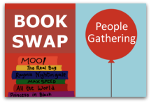People Gathering Book Swap